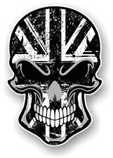 Gotico Biker teschio & B & W GRUNGE Union Jack bandiera inglese VINILE