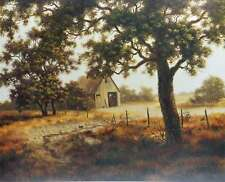 Autumns Past by Carol Gibson Sayle Country Landscape Rustic Barn Trees S/N