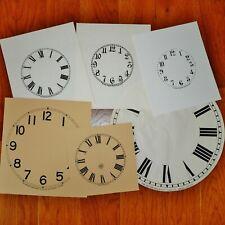 1 Canada Clock Co & 5 Pequegnat Clock Dials Paper Arabic Roman Berlin Kitchener