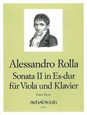 Sonata II Eb major Rolla, Alessandro viola and piano 9790015082405