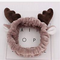 Cute Deer Horn Soft Towel Hair Band Wrap Headband For Bath Spa Make Up Gift