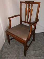 Jugendstil Armlehnstuhl Armlehnsessel Schreibtischstuhl Bürostuhl,Leder,nußbaum