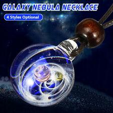 Plaza Universo Galaxia nebulosa Espacio Cosmos cristal colgante collar A