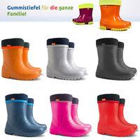 SUPERLEICHTE EVA Kinder Gummistiefel Regenstiefel gefüttert Stiefel Schuhe DINO