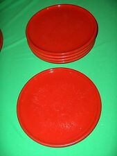 5 Vintage Salad Plates Waechtersbach Solid Colours Red Discontinued