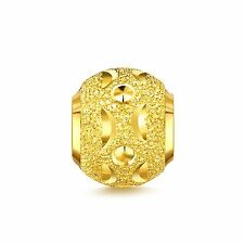 Real Pure 999 24k Solid Yellow Gold Pendant/ Unique Lucky Bead Pendant 1g