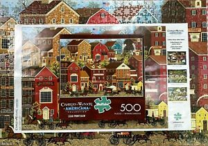 """LILAC POINT GLEN-CHARLES WYSOCKI -500 PC. PUZZLE-SIZE 21.25""""X15"""" POSTER COMPLETE"""