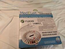 MedELert Premium Locking Automatic Pill Dispenser with Alarm