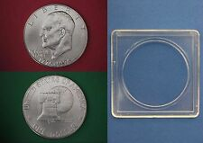 1976-S 40% Silver BU Eisenhower Dollar With 2x2 Snap Flat Rate Shipping