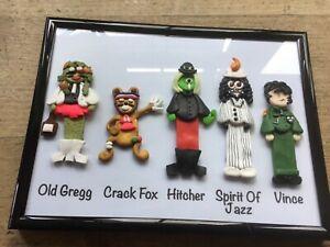 The Mighty Boosh Handmade Frame Old Gregg crack fox Vince bob fossil 5 Figures
