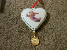 2007 Annual Hummel Christmas Ornament, ''Flying Angel'', Danbury Mint, Porcelain