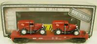 MTH 30-8303 Milwaukee Flatcar w/2 1932 Panel Trucks LN/Box  # 303  C8