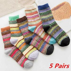 Fashion Women Fairsle Print XMAS Festival Winter Warm Ladies Cosy Sleeper Sock