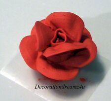 """10- 1 1/4"""" Sugar Royal Icing Edible Rose Flower Cake Cupcake Wedding Birthday"""