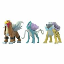 Bandai Premium Pokemon Scale World Raikou Entei Suicune 1/20 Figure Set