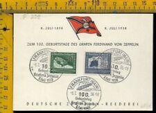Aviazione Posta Aerea Zeppelin f 832 100° 1838 1938 Germania
