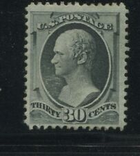 1874 US Stamp #165 30c F/VF Mint Part OG Hinged Catalogue Value $3750 Certified