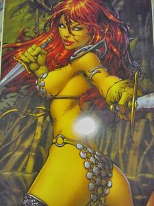 Red Sonja Poster 12x18 in. Print Mint Battle Queen sexy she devil
