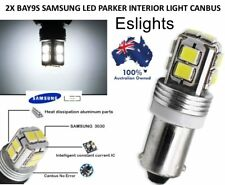 2X H6W BAY9S CANBUS 6000K WHITE LED PARKER LIGHT BULB FOR AUDI BMW VW GOLF