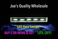 (7)WARM WHITE 8V LED FUSE LAMP/QR-6500/QRX-6001/SEVEN 7/SIX 6/EIGHT 8/BA/SANSUI