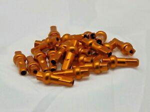 16mm DSN ORANGE Alloy Double Square spoke nipple 14g (2.0mm) Custom amounts
