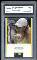 2005 Maria Sharapova Ace Authentic Tennis Rookie  Gem Mint 10 #MS36