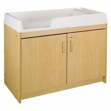 """Lockable storage cabinet with 12 small (3"""" high) translucent bins - Retail $615"""