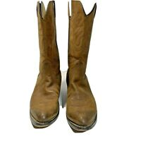 DURANGO Womens Brown Leather Cowgirl Western Low Heel Riding Boots Size 8.5M