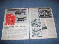"""1971 Ford Maverick Grabber Vintage Info Article """"Grab a V8 Grabber"""""""