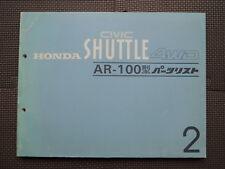 JDM HONDA CIVIC SHUTTLE 4WD AR Original Genuine Parts List Catalog
