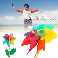 8df1 Windmill Small Cute Garden Outdoor Toy Entertainment Hand Toy Rainbow Wood