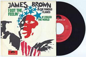 "7"" JAMES BROWN I got the feelin' (Polydor 68 ITALY) funk soul r&b RARE MINT!"