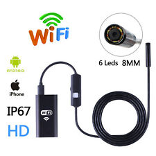 5M 6LED Waterproof WiFI Borescope Inspection Endoscope Snake Tube Camera HD 720P