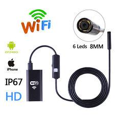 5M 6LED Waterproof WiFI Borescope Inspection Endoscope Snake Tube Camera HD 720P