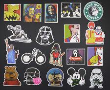 19 Vinyl Stickers Funny Star War KFC Mario Snowboard Luggage Car Laptop Phone