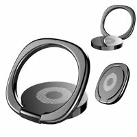 Black 360° Universal Rotating Finger Ring Stand Holder Stand Mounts Cell Phone