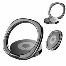 Black 360 Universal Rotating Finger Ring Stand Holder Stand Mounts Cell Phone