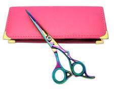 Professional Hairdressing Scissors Hair cutting Barber Shear Green Fingerinserts
