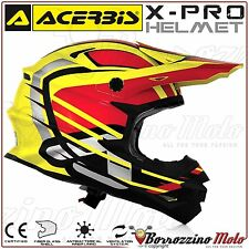 CASCO ACERBIS X-PRO WEREWOLF GIALLO MOTO CROSS ENDURO QUAD OFFROAD TG. L 59-60