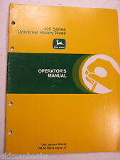 John Deere 400 Series Universal Rotary Hoes Omn159454 J7 Operator'S Manual