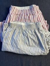 vintage John Weitz mens boxer shorts Rare 38-40 striped 2 pairs Large Usa