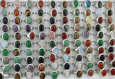 Wholesale Mixed Lots 35pcs Women Rings Assorted Natural Stone Classic Jewelry