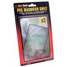 3X Magnifier Hoja Plana potencia PVC Lupa Ayuda Lectura Libro Lente 18x12cm
