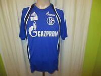 """FC Schalke 04 Adidas Spieler Freizeit-Training Trikot 2014/15 """"GAZPROM"""" Gr.M TOP"""