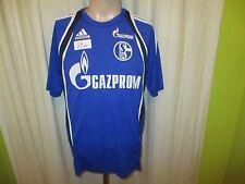 """FC Schalke 04 Adidas Spieler Freizeit-Training Trikot 2009/10 """"GAZPROM"""" Gr.M TOP"""