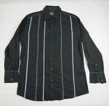 Colorado jeans Button Up Long Sleeve Stripe Shirt size S Cotton Tapered Fit