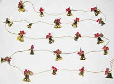 Brass 8 Foot Garland of Metal Jingle Bells