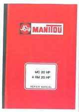 Manitou Forklift MC 20 HP & 4 RM 20 HP Workshop Service Repair Manual