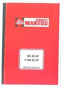Manitou Forklift MC 20 HP & 4 RM 20 HP Workshop Service Repair Manual