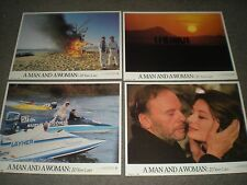 """A MAN AND A WOMAN: 20 YEARS LATER - ORIGINAL SET OF 8 11"""" x 14"""" LOBBY CARDS"""